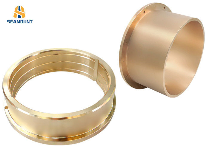 Centrifugal Casting C86300 Flanged Bronze Bushings Good Rotation Accuracy